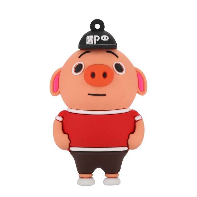 Cute USB Flash Drive 32GB Cartoon Pig Pendrive Memory Stick USB2.0 Animal Jump Drive Character Data Storage Gift USB Disk