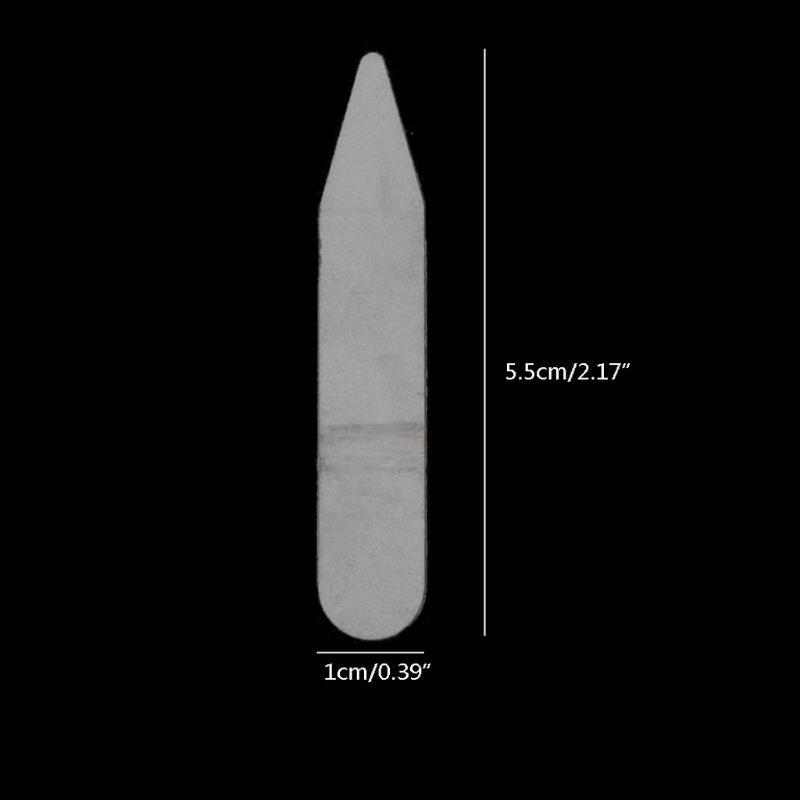 200 шт. Пластик воротник стойки ребра жесткости стойки кости рубашка мужские% 27s прозрачный воротник остается