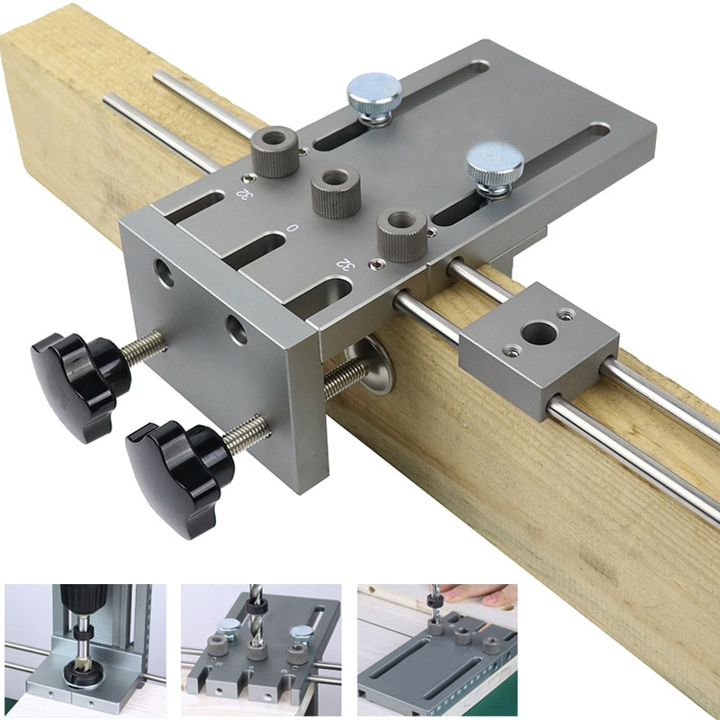 Woodworking Hole Opener, Straight Hole Punch, Three-in-One Punching Positioner enlarge