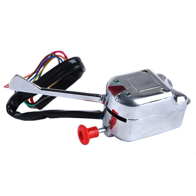 Interruptor de señal de giro cromado 12V Universal Rat para FORD GM