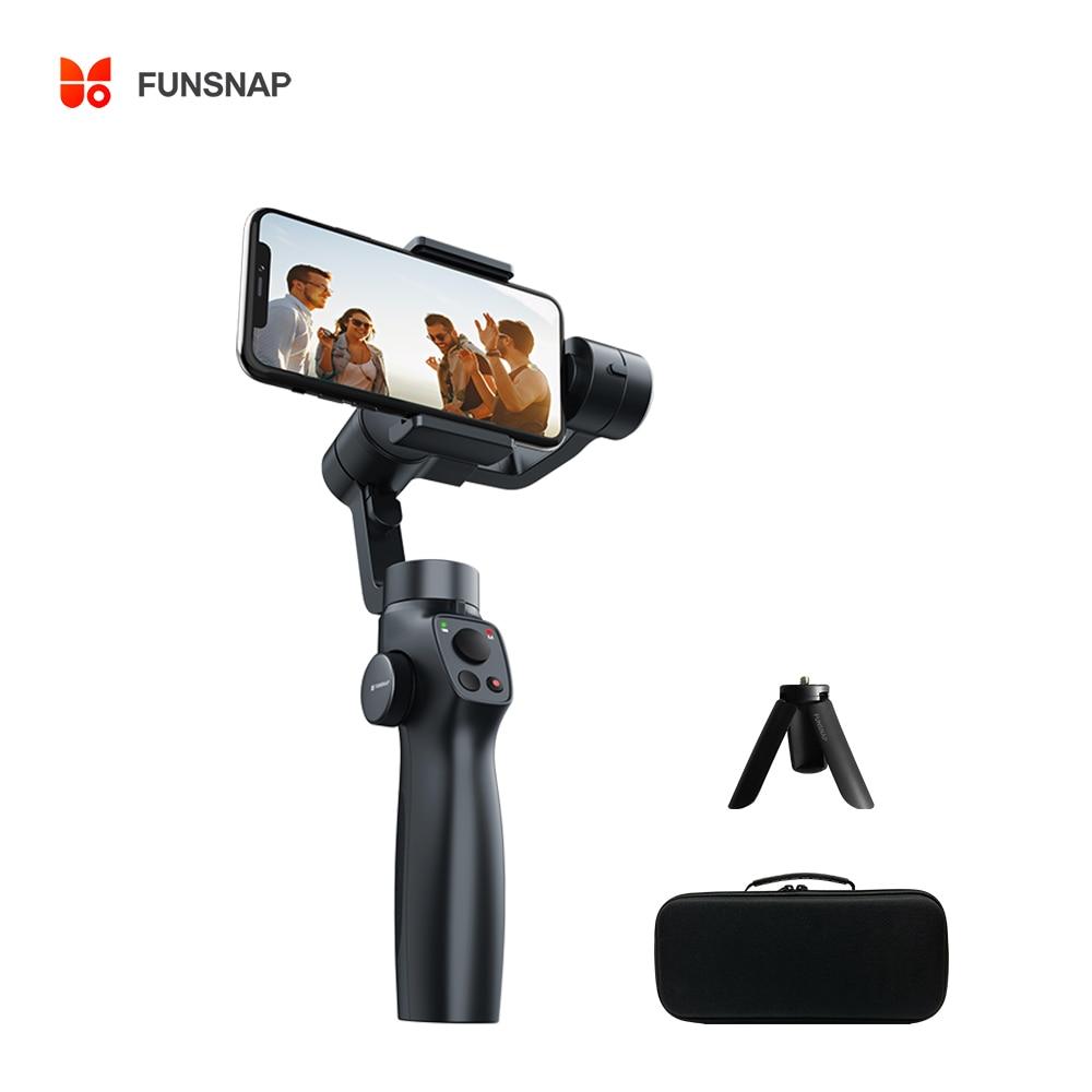 Funsnap Capture2S 3-Axis يده الهاتف مثبت أفقي التركيز سحب وتكبير المحمول Gimbal ل tiktok فيديو أو youtobe Vlog لايف