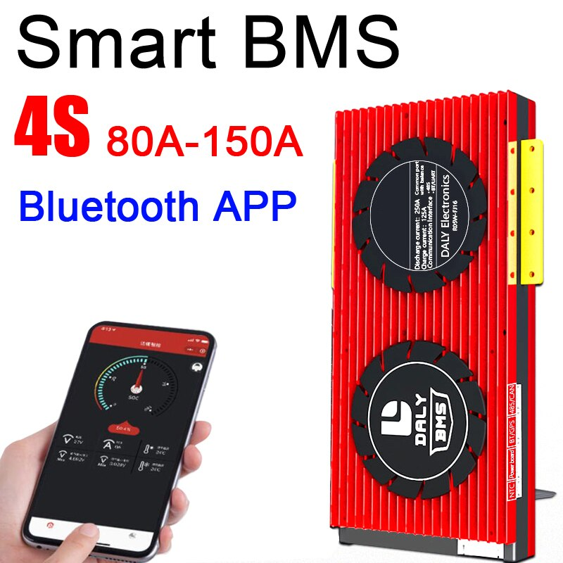DALY Smart 4S BMS 12V 100A 120A 150A 200A 250A Lifepo4 Lithium iron phosphate Battery Protection balance Board  Bluetooth APP