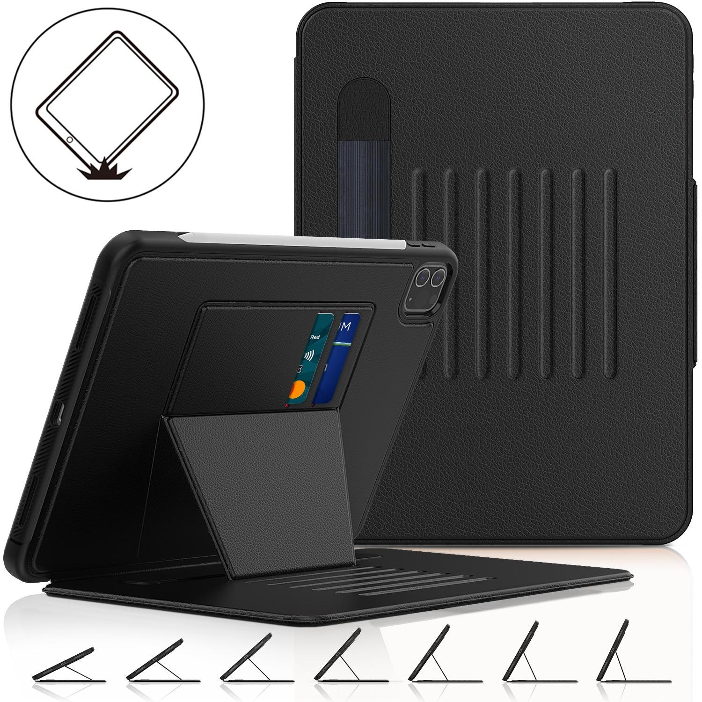 حافظة لجهاز iPad Pro 11 2018 2020 حافظة ممتصة للصدمات من الجلد الصناعي PU حافظة لجهاز iPad 10.2 9.7 mini 4 5