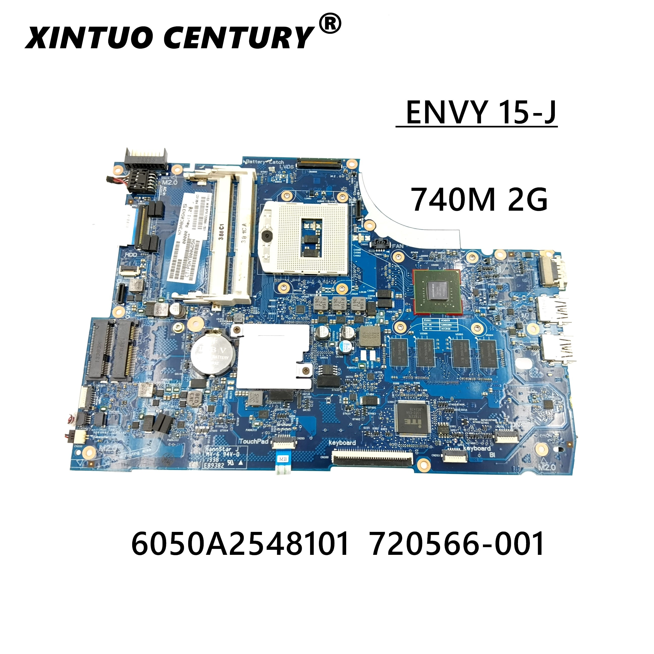 genuine 720566 501 720566 601 720566 001 w 740m 2g graphics hm87 laptop motherboard for hp 15 15 j 15t j series notebook pc 720566-501 720566-001 6050A2548101-MB-A02  for HP ENVY 15-J 15T-J Laptop motherboard 740M/2G 100% working
