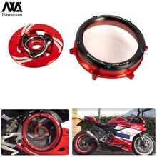 CNC alüminyum temizle motosiklet debriyaj kapağı seti 959/1199/1299 Panigale 2012-2018