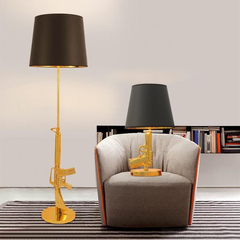 الشمال الكلاسيكية AK47 بندقية صالة مصباح أرضي شخصية تصميم ركن إضاءة زينة غرفة نوم أباجورة مكتب مذاكرة مصابيح طاولة