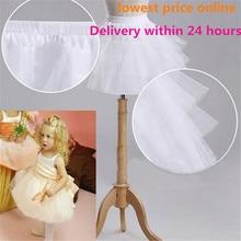 Yeni çocuk Petticoats resmi/çiçek kız elbise Hoopless kısa kabarık etek küçük kız/çocuk/çocuk jüpon