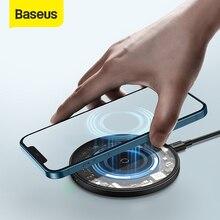 Baseus магнитное Беспроводное зарядное устройство для iPhone 12 11 Max 15W Qi Быстрая зарядка Pad для Samsung Xiaomi Slim беспроводное быстрое зарядное устройство