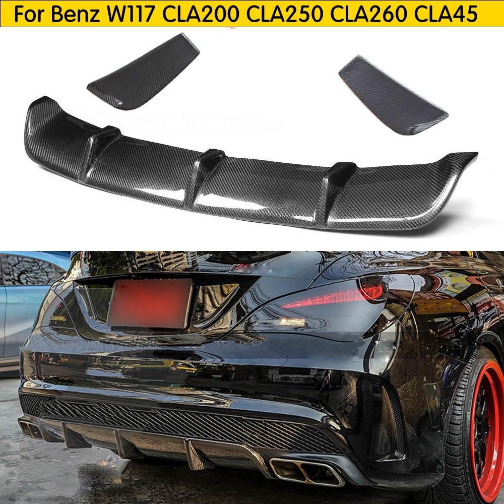 W117 Rear Bumper Diffuser for Mercedes CLA C117 CLA 180 CLA 200 CLA 250 CLA45 AMG Sport Edition Rear Bumper Lip