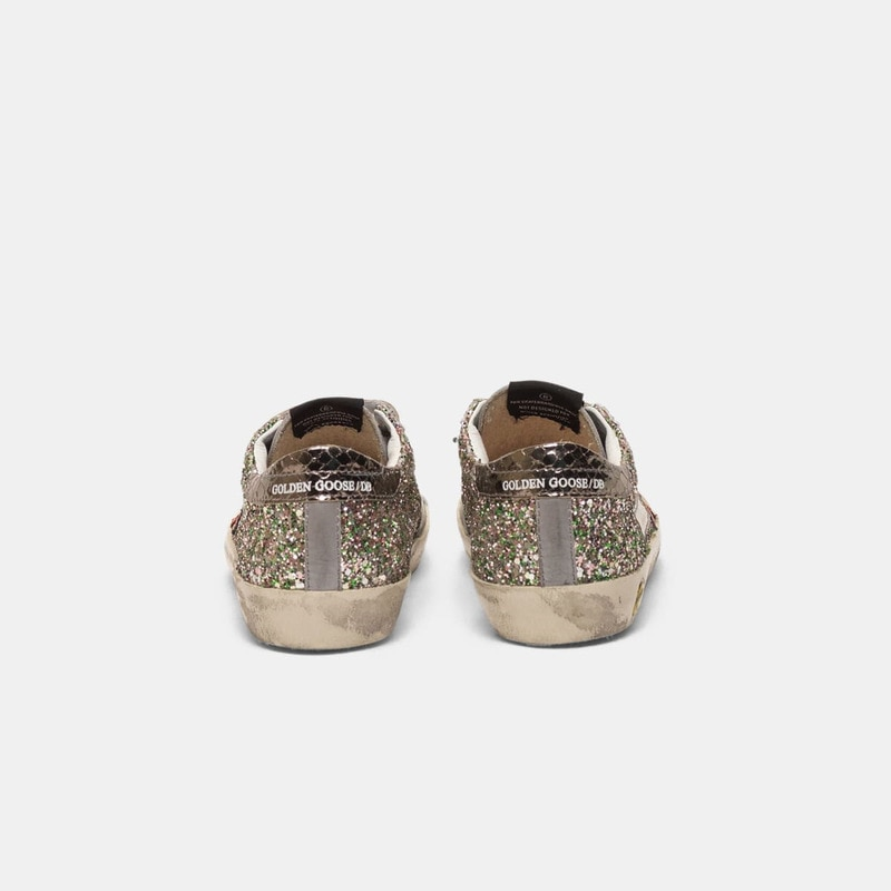 2021 Spring and Summer New Sequined Stars Children's Retro Old Small Dirty Shoes Boys and Girls Casual Parent-child Shoes QZ10 enlarge