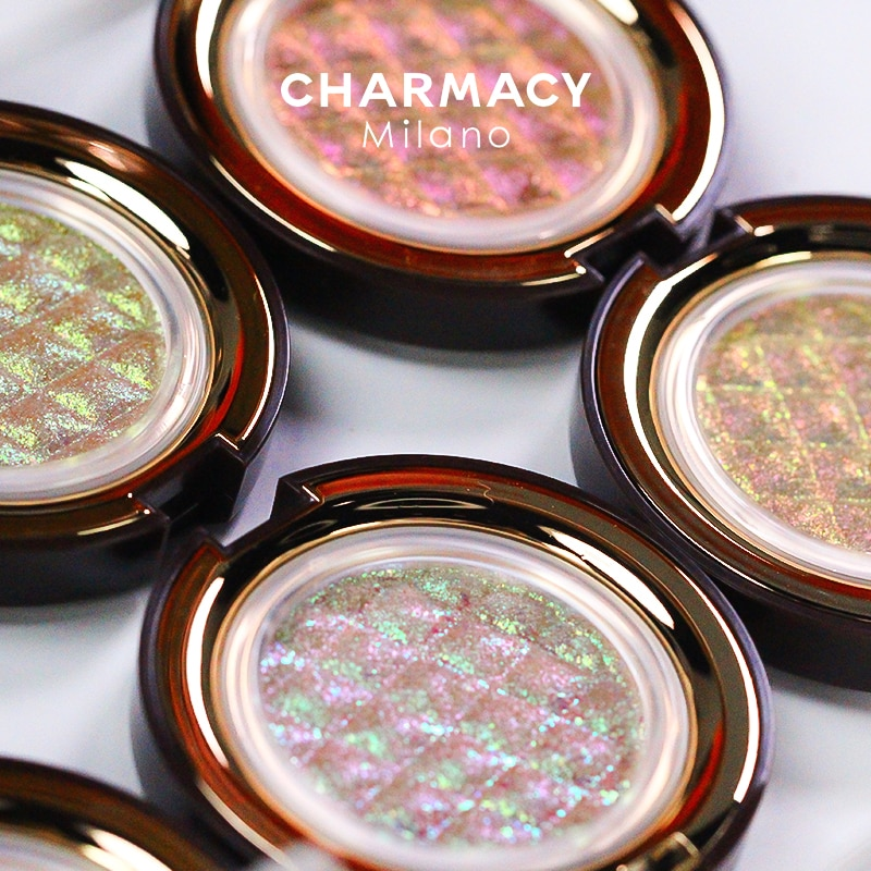 CHARMACY Shiny Eyeshadow Highlighter Make Up Contour Face Body Bright Cosmetic Chameleon Duochrome G