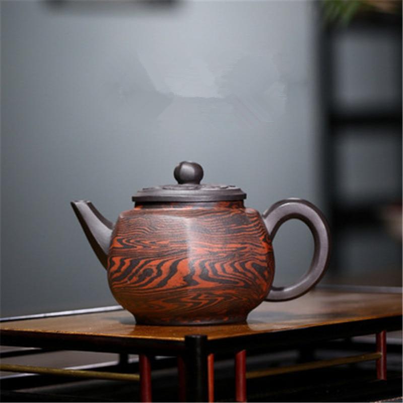 Yixing الأرجواني إناء فخار الخام الأسود الطين الطين مسدس قصر فانوس إبريق الشاي المنزلية الكونغ فو طقم شاي Samovar الصينية براد شاي