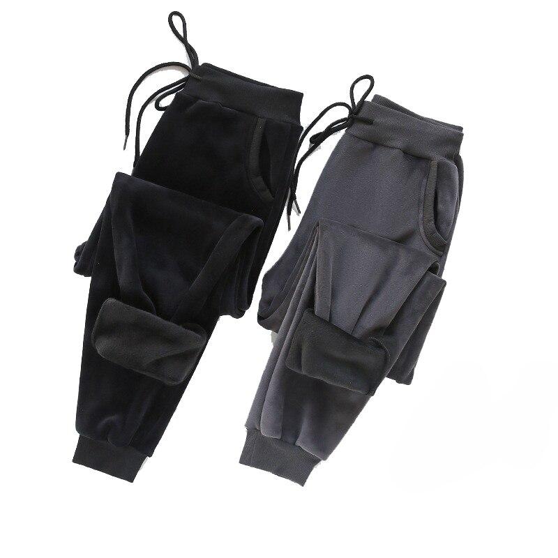 Зимние брюки-джоггеры для женщин, тренировочные штаны, толстые теплые бархатные спортивные брюки, брюки для ног, одежда, спортивные штаны дл...