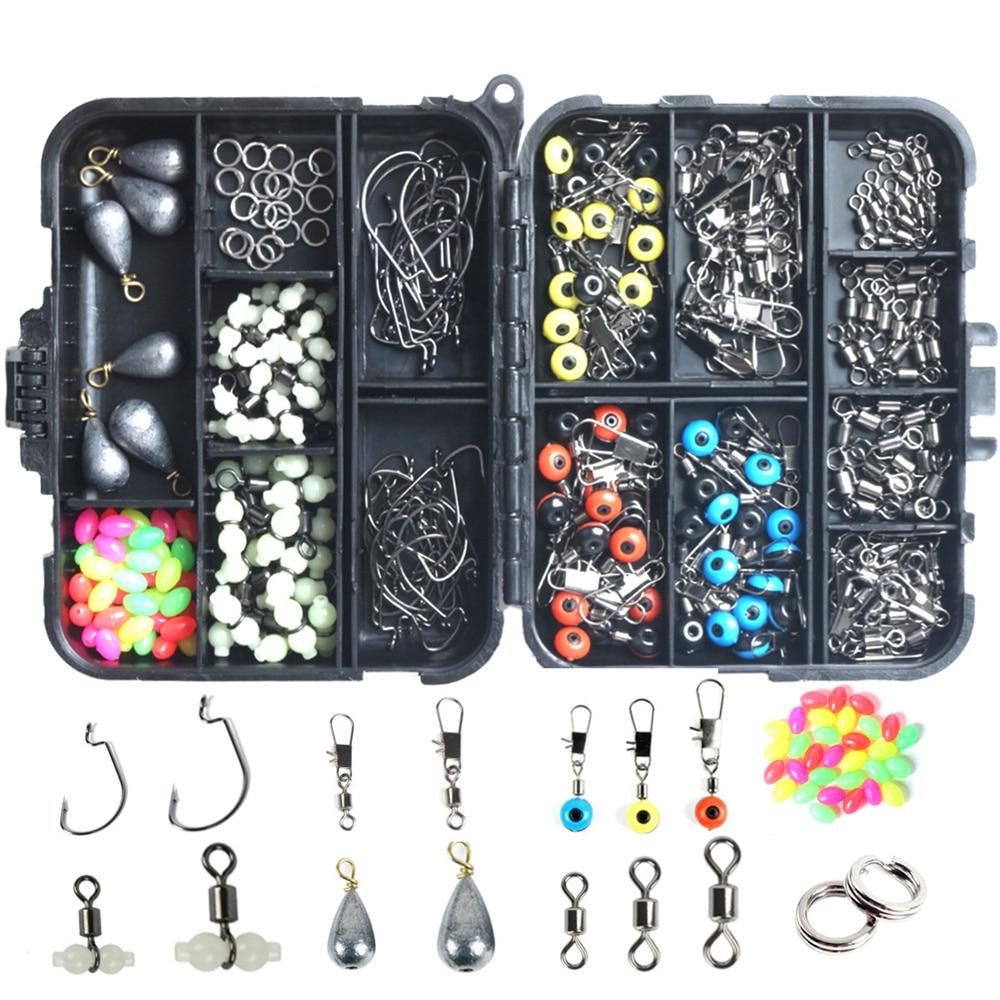 251pcs/box Portable Fishing Tackles Set Box Sea Rock Fishing Tools Equipment Kit Sets Carp pesca Fish Accessories