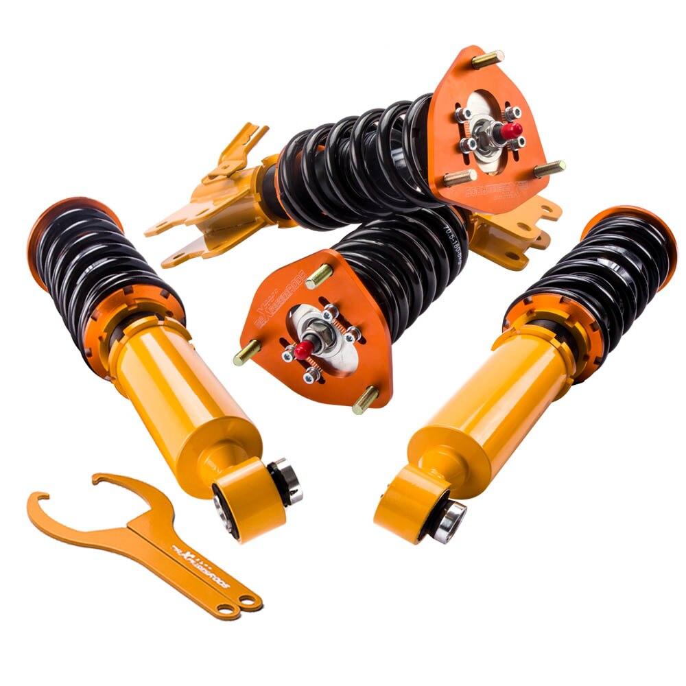 Suspensão ajustável dos coilovers de 24 etapas para suportes de choque de nissan s13 silvia 180sx 240sx 240sx 1989-1994