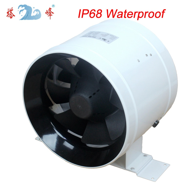 10 inch greenhouse inline duct fan blower water proofing large air flow fan outdoor 6 150mm high efficiency inline duct fan exhaust fan mixed flow hydroponic air blower for home bathroom greenhouse ventilation