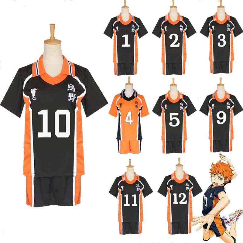 Anime Haikyuu Cosplay Costume Karasuno High School Volleyball Club Hinata Shyouyou Kageyama Tobio Sportswear Jerseys Uniform