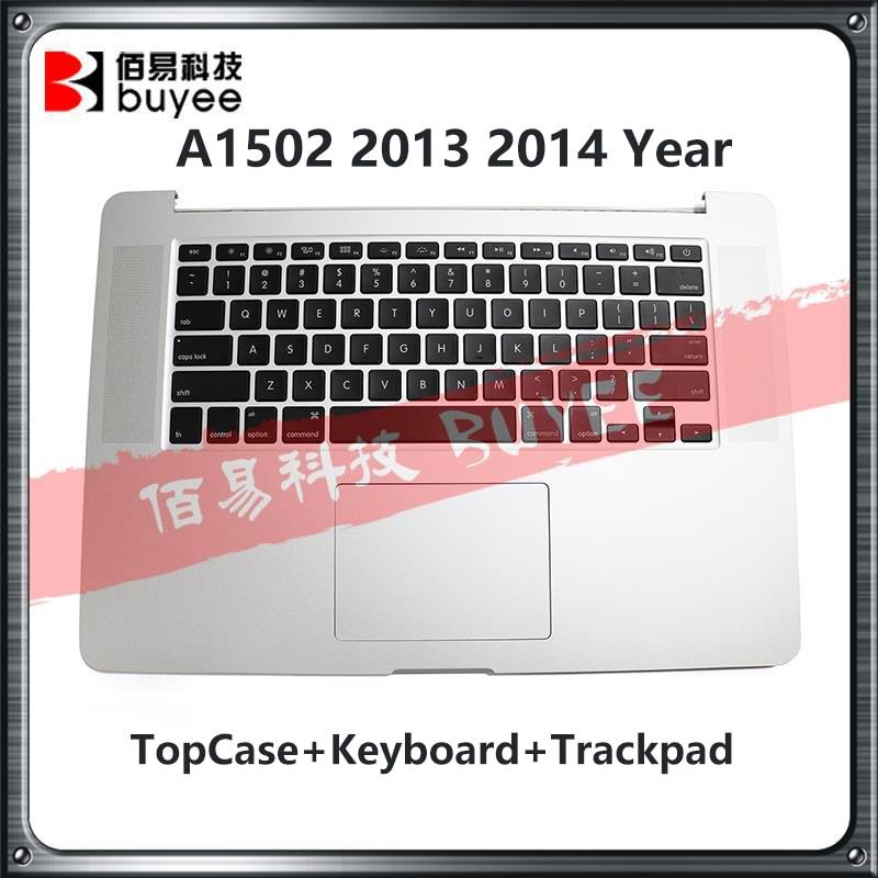 Genuíno a1502 topcase para macbook pro retina 13 2013 2014 a1502 palmrest topo caso eua uk teclado backlight com trackpad