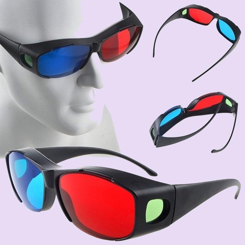1Pcs Black Frame Red Blue 3D Glasses For Dimensional Anaglyph TV Movie DVD Game
