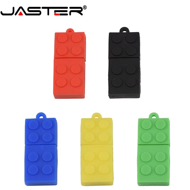 JASTER-unidad flash USB 2,0, bloques de construcción, pendrive de 4GB, 8GB, 16GB,...