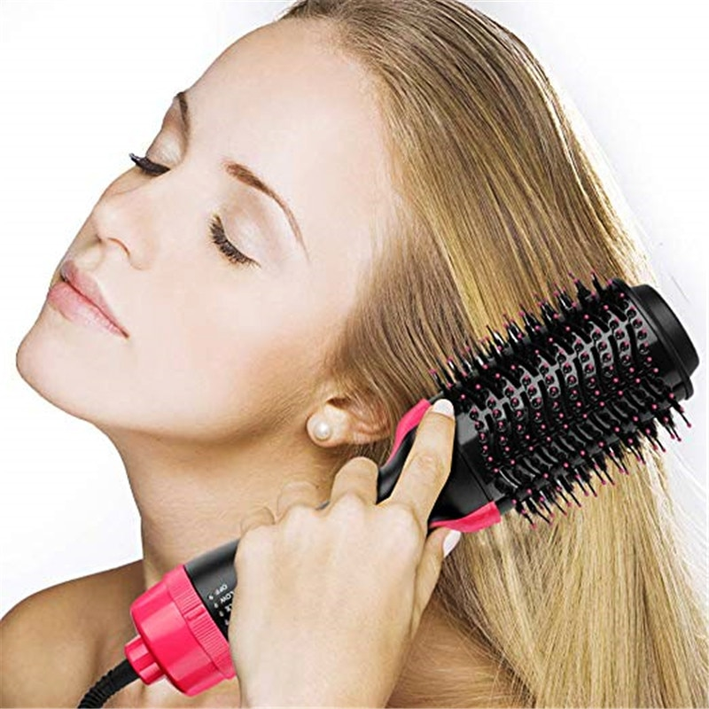 One Step Hair Dryer And Volumizer Hot Air Brush Curler Hot Hair Dryer With Comb Hair Straightener Curling Blow Dryer Brush Hair enlarge