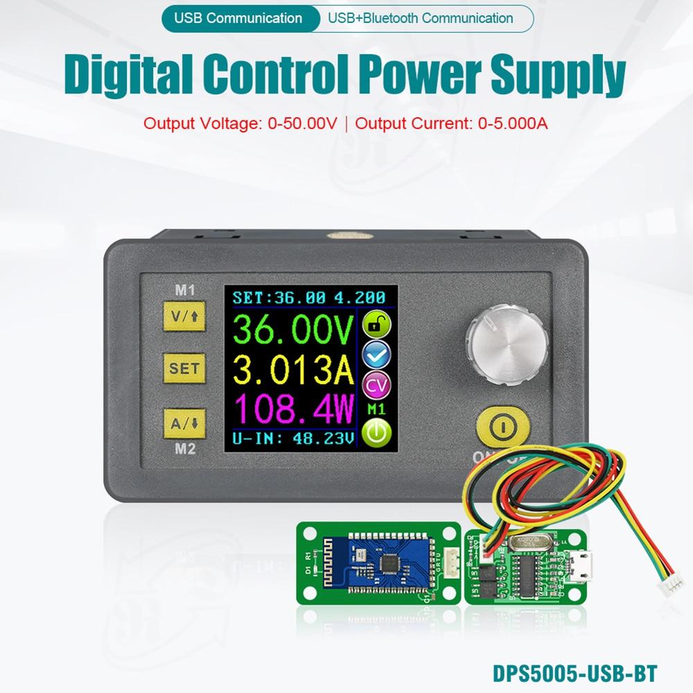 Dps5005 função de comunicação tensão constante atual step-down módulo de alimentação lcd voltímetro 32v 50v 5a