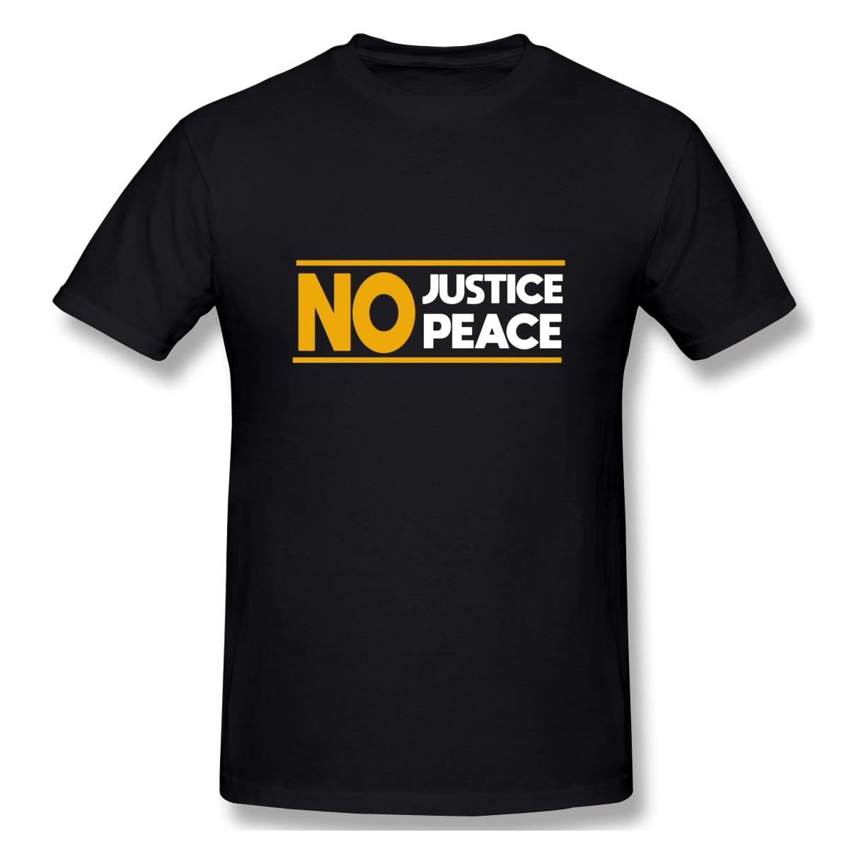 Sem justiça sem paz george floyd masculina básico manga curta camiseta tamanho europeu