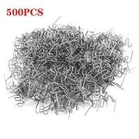 500pcs hot stapler plastic repair standard pre cut wave staples bumper bodywork repairs 0 8mm wave staples stainless steel