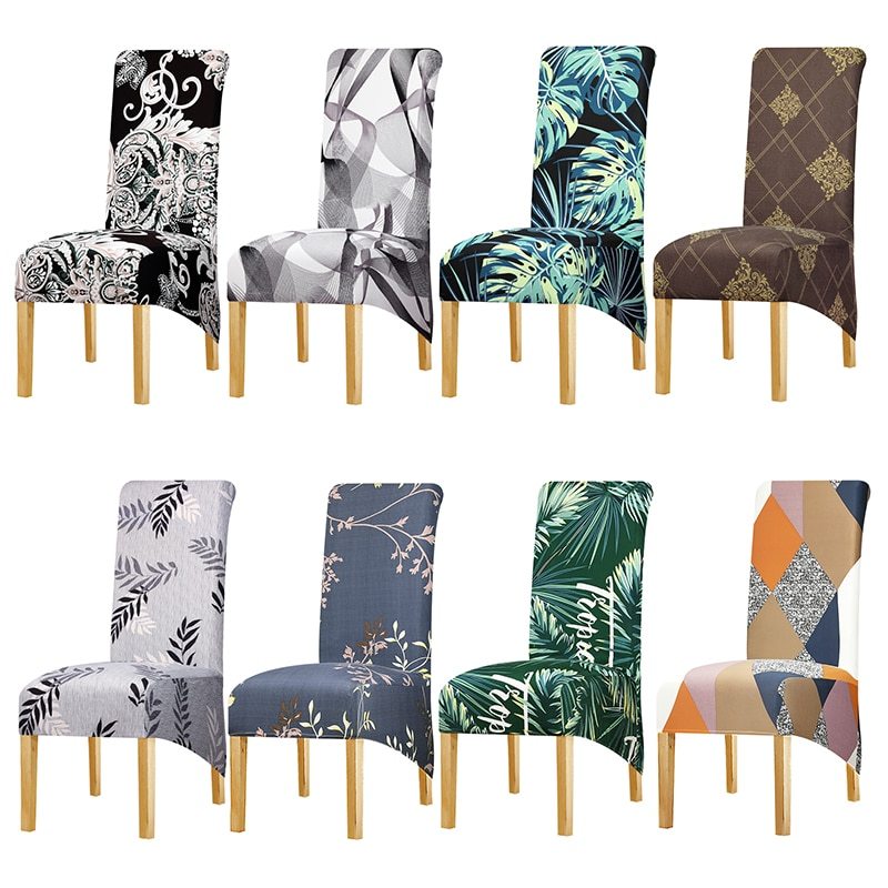 Funda de silla de estilo europeo de talla larga de espalda alta fundas de silla de gran tamaño fundas de asiento de Hotel Fiesta banquete housse de chaise Decoración