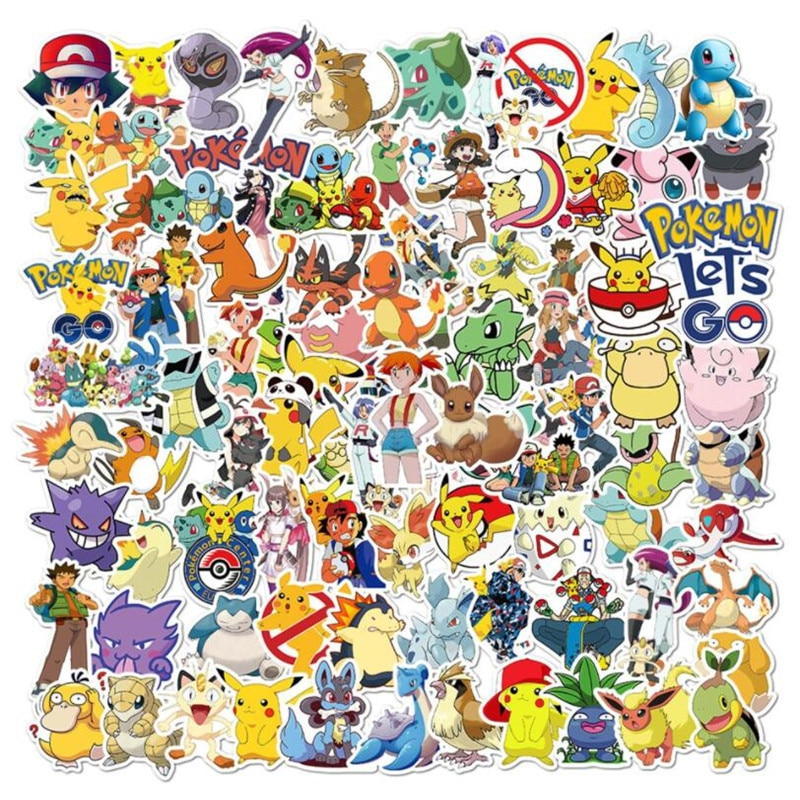 10-30-50pcs-anime-pokemon-graffiti-cellulare-skateboard-bagagli-laptop-impermeabile-autoadesivo-dell'automobile-del-fumetto-all'ingrosso