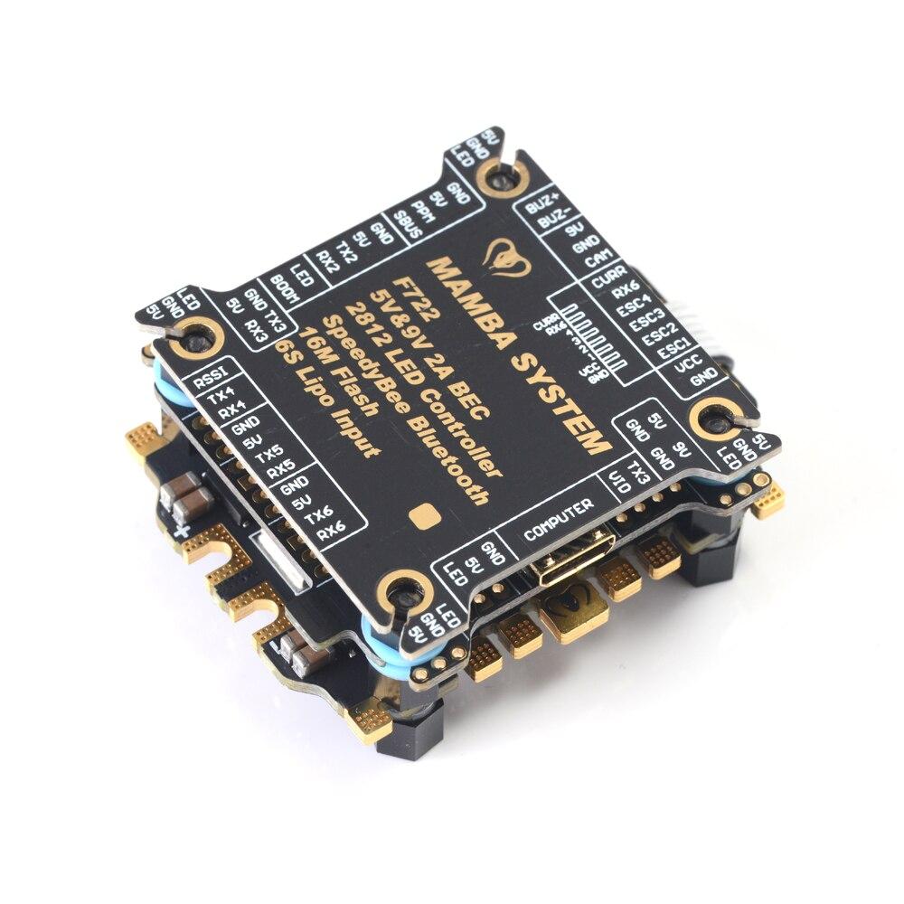 MAMBA F722S Betaflight stos kontroler lotu OSD 5/9V 2A BEC i 50A 3-6S Blheli_32 Dshot1200 bezszczotkowy ESC RC Drone