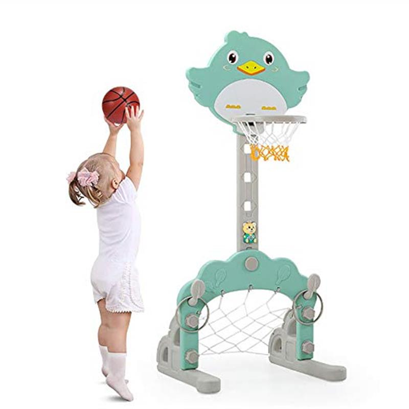 Niños baloncesto aro bebé Backboard juguete altura ajustable baloncesto soportes plástico deportes al aire libre niños Fit Equipment