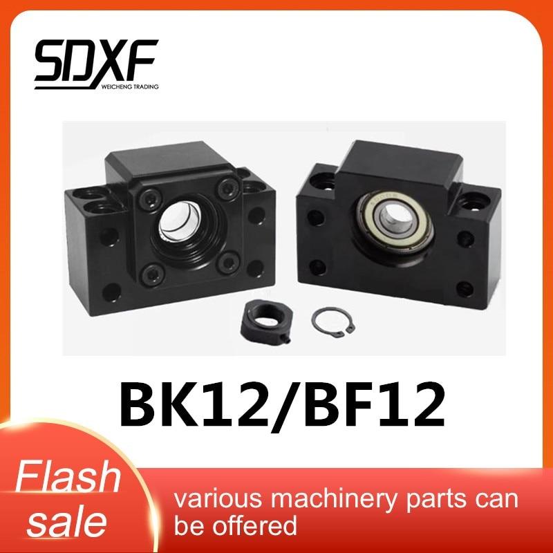 Bk12 bf12 conjunto 1pc de bk12 e 1pc bf12 para suporte final para sfu1605 1604 1610 sfe1616 suporte de parafuso de esfera cnc xyz