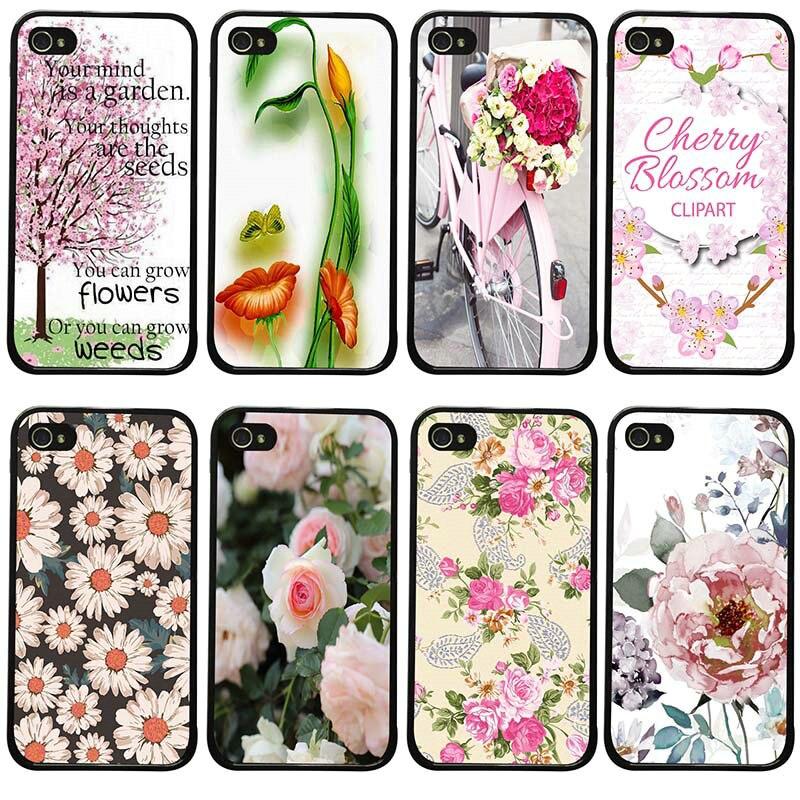 Fundas de teléfono móvil con diseño de flores hermosas, carcasas de PC de plástico duro para iphone 8 7 6 6S Plus X XR XS 11 Pro Max 5S 5 SE 4 4S
