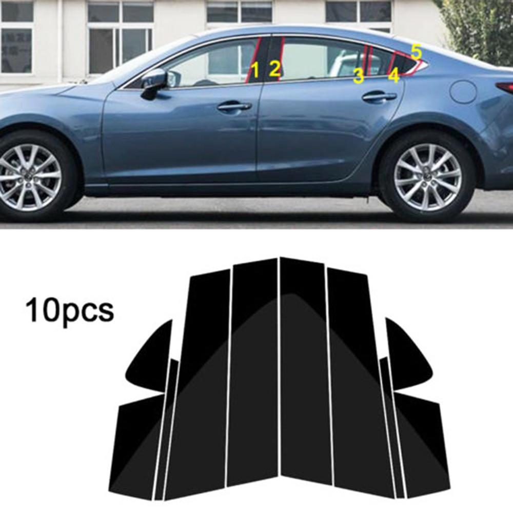 10pc janela pilar posts guarnição capa de moldagem para mazda 6 atenza 2014-2018 bc médio coluna adesivo