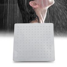 12 paslanmaz çelik yağış duş başlığı krom kare ultra ince şelale yağmur en sprey başlığı duchas yurtiçi teslimat