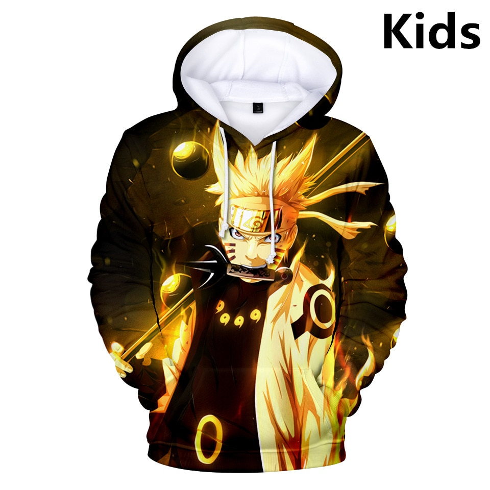 3 To 14 Years Kids Hoodies Naruto 3d Printed Boys Girls Hoodie Sasuke Hatake Kakashi Cartoon Sweatshirt Casual Children Clothes