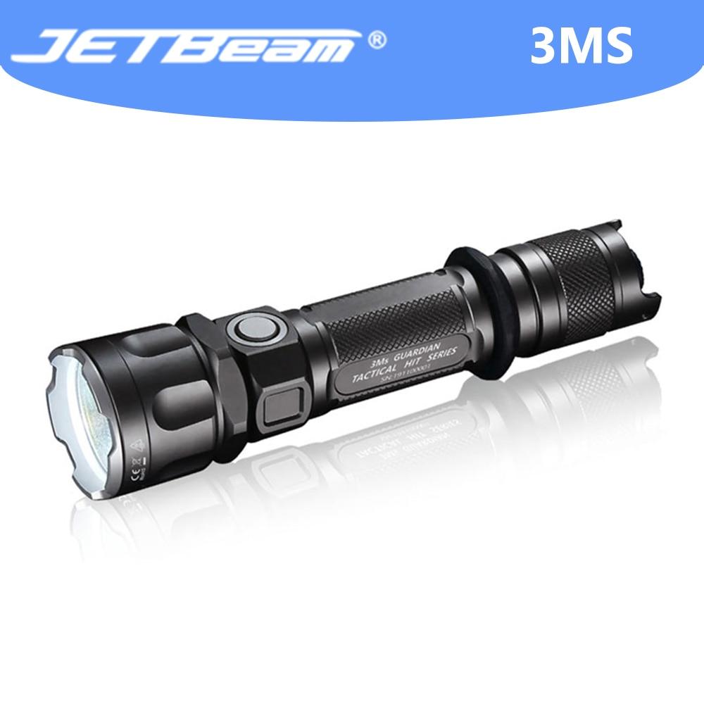 JETBEAM 3MS التكتيكية مضيا عالية مصباح وامض Led 2000 لومينز فانوس التخييم الدفاع عن النفس التكتيكية الشعلة