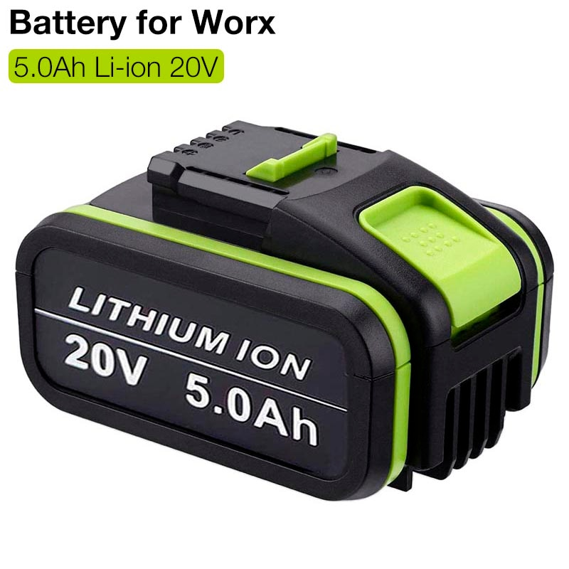 20V 5.0Ah Lithium ion Replacement Rechargeable Battery for Worx WA3551 WA3553 WX390 WX176 WX550 WX386 WX373 WX290 WX800 WU268