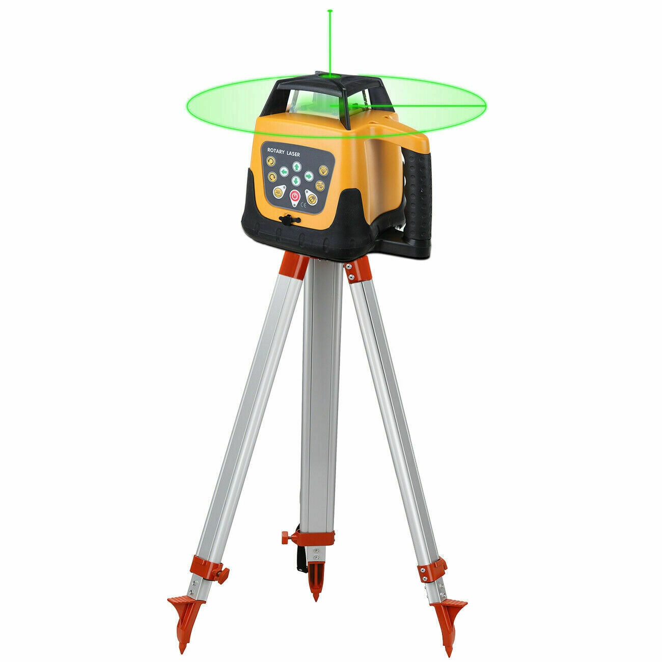 Honhill Laser Level 360 Rotating 500m Range Automatic Self Level Rotating Laser Level+1.65M Tripod+5M Measuring stick Green/Red