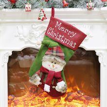 Christmas Stockings Christmas Decoration Santa Snowman Reindeer Party Home Decor 634E