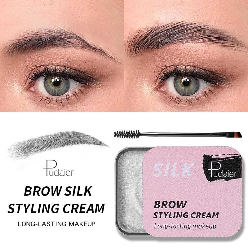 1Pc 3D plumas cejas maquillaje Gel crema jabón cejas Kit duradera de cejas/estiramiento de la frente de laminación de tinte intensificador de cejas pomada TSLM2