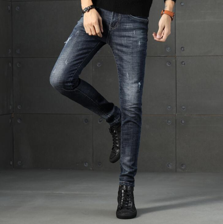 Free Shipping 2020 High Quality Stylish Popular Long Length Men Jeans Stretch Long Male Pants