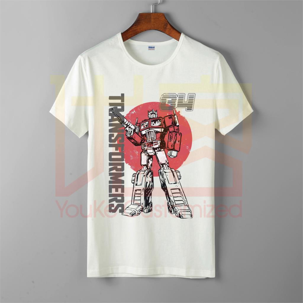 Get-transformers-optimus-prime-retro-diseño-Camiseta de los hombres más vendidos 100% de algodón personalizado impreso de alta calidad de la marca camiseta