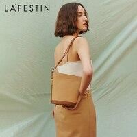 LA FESTIN  Designer handbags 2021 new underarm bucket bag fashion messenger bag popular one-shoulder canvas bag female bag