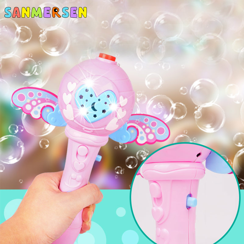 Kids Magic Wand Bubble Maker Gun Blower Toy Bath Electric Automatic Soap Bubble Machine Light Music Outdoor Toys for Children