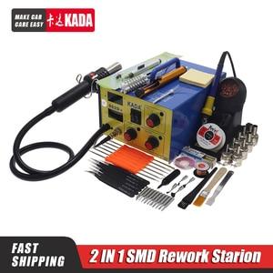 KADA 952D 110V/220V Hot Air Gun + Soldering Iron 2in1 Power BGA rework station welding table