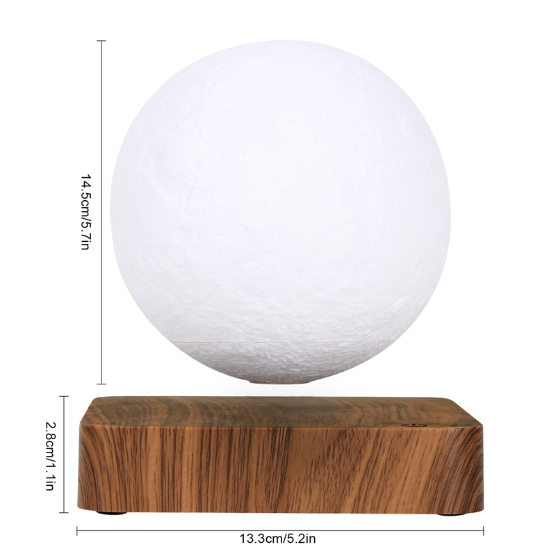 NEW design Creative 3D Magnetic Levitation Moon Lamp Night Light Rotating Led Moon Floating Lamp Home Decoration Holiday enlarge