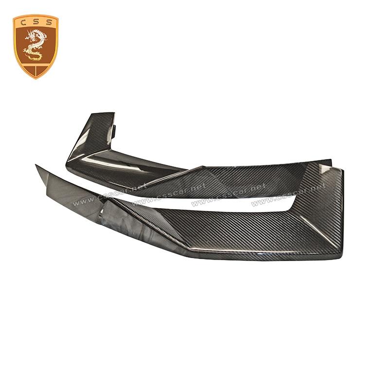 Personalización de automóviles, estilo OEM, fibra de carbono Real, frontal, cabezal de parachoques, divisor para Lamborghini ventador LP700-4