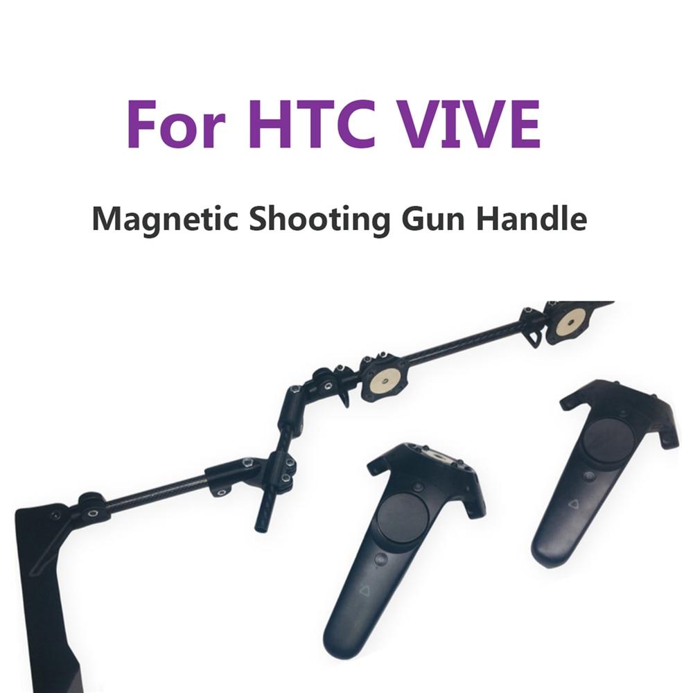VR-مسدس إطلاق النار بمقبض مزدوج ، وحدة تحكم لـ HTC VIVE VR ، ملحقات سماعة الرأس ، حامل مغناطيسي